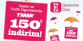 Sigortam.net'te aracınızı %50'ye varan fiyat avantajına ek 150 TL İndirimle Sigortalatın!