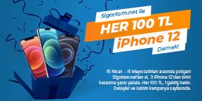 Sigortam.net İle Her 100 TL iPhone 12 Demek