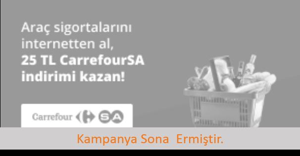 Sigortam.net'te 25 TL CarrefourSA İndirimi!